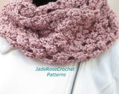 Crochet Infinity Scarf Pattern, Crochet Cowl Pattern, Circle Scarf Pattern, PDF241