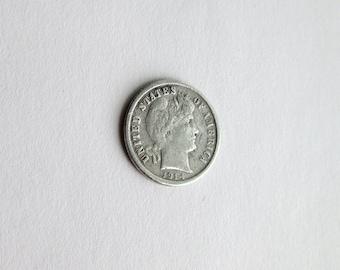 1914 D US Silver Dime