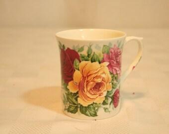 Vintage 70s Regency English Bone China Mug tea Cup Made in England 1970s