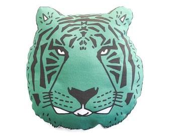 Pillow Plushie Jade Tiger- Decorative Pillow- Tiger Plushie- Throw Pillow - Nursery Decor - Tiger Pillow - Tiger Plushie - Plush Tiger