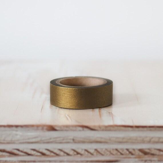 Bronze Solid Metallic Washi Paper Tape