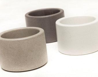 Concrete Planter, 1 ea. choice of 3 colors