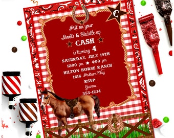 HORSE INVITATION ~ Personalized Printable Download