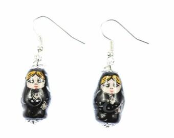 Matryoshka earrings earrings Miniblings Babushka Russian doll ceramic schwz