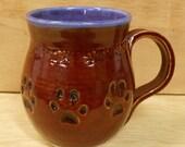 Cat Paw Print Mug, Large Size - Food, Microwave, Dishwasher Safe