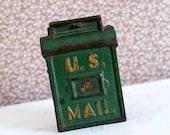 US Mail Box Cast Iron Still Bank