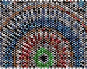 Mandala Peyote Cuff Pattern INBW tutorials