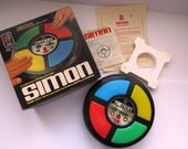 1978 SIMON Computer Controlled Game - Instructions Original Box - Family Game Night - 3 Games in 1 - Collectible Vintage Games Kids Toys
