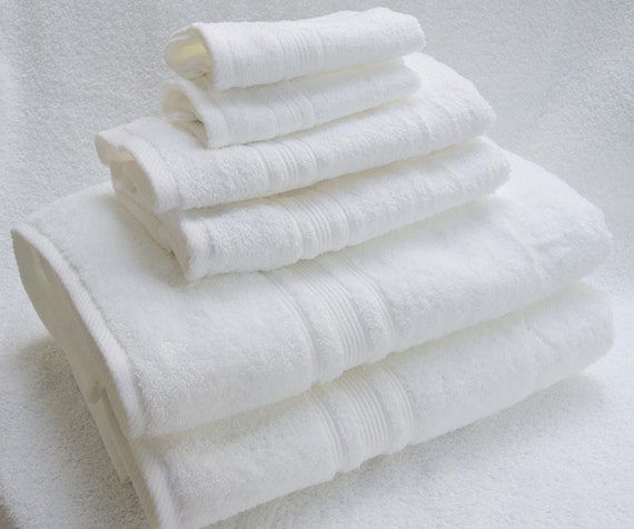 Charisma Bath Towels Seafoam: Monogrammed 6-pieces Towels Set From Charisma-white-100% Hygro