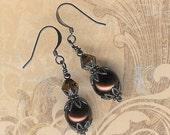Brown Pearl Earrings, Make Your Own Earring, DIY Earring, Do It Yourself Kit, Bead Kit, Beginner Kit, Beaders Gift, Jewelry Maker Kit