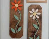 Wood Flower Wall Decor, Home decor, Wall art, Wall hanging