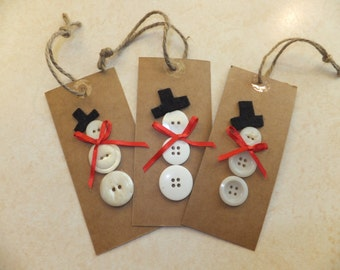 Vintage Button Gift Tags