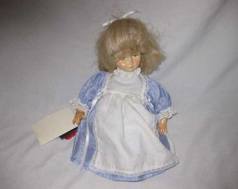 """14"""" 1986 DOLFI Wood Wooden Italy Italian Doll Tagged Certificate"""