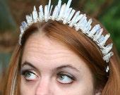 Kyanite Kaia Crown, Angel Aura and Kyanite Crown, kyanite crystal crown, angel aura crown, aura quartz crown, mermaid crown