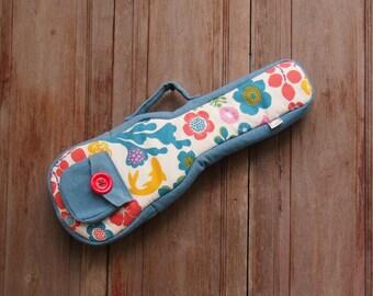 Concert ukulele case - Happy summer ukulele bag (Ready to ship)