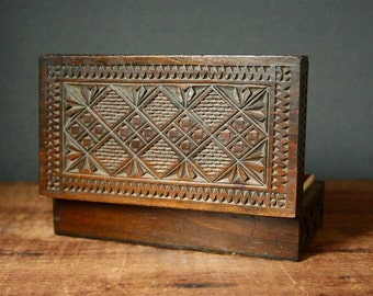 Russian carved box, chip carving, chip carved box, folk art box