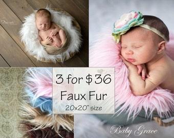 Photography Props, Newborn Faux Fur Fabric, Photography Backdrops, Newborn Photo Prop, Faux Furs, Newborn Photography Props, Baby Props
