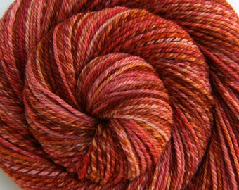 Handspun Yarn Worsted Weight - TROPICAL OASIS - Superwash Merino/Alpaca/Nylon/Silk, N-ply Sock yarn, 216 yds, weaving yarn, gift for knitter