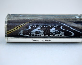 Rt 66. on pre brass tubed gearshifter pen blanks
