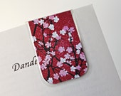 Magnetic Bookmark Laminated Cherry Blossom Japanese Festival Springtime Spring Flowers Flower Pink Red Mom Dad Teacher Gift Student School