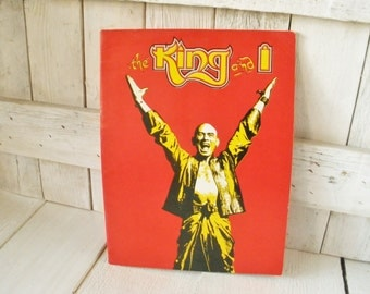 Vintage play program The King and I theater souvenir 1983 Rogers and Hammerstein Yul Brenner