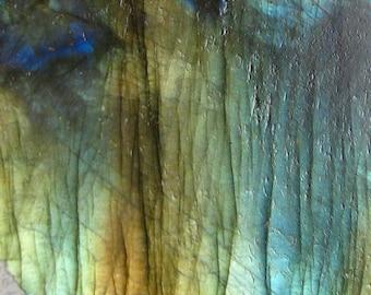 Gold n Blue Flash Labradorite Slab RS351