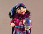 OOAK Gypsy Fortune Teller Polymer Clay Art Doll