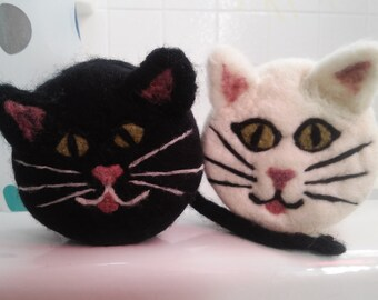 Kitty Felted Soap