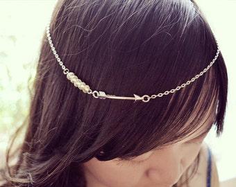 Yellow Beads Arrow Boho Head Chain