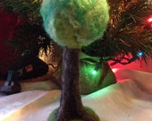 Needle Felted Wool Tree - Waldorf Inspired - Spring Foliage