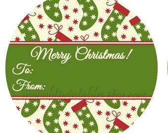 holiday return address label