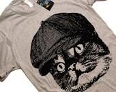 Mens Cat In A Hat T Shirt tee - American Apparel Tshirt - XS S M L XL 2XL (Color Options)