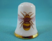 Thimble Porcelain with Bee