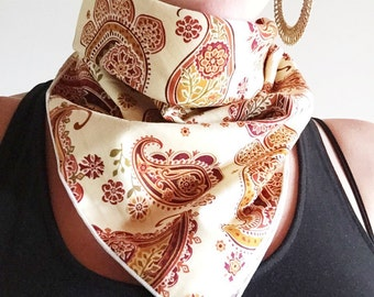 Bandana // Paisley Cream // Summer // Music Festival // Dust Mask