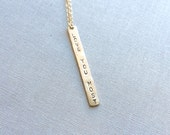 Vertical Name Bar Necklace / personalized jewelry / name bar necklace - 1367