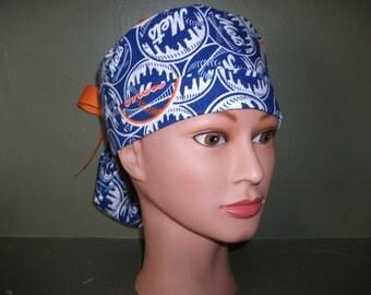 NY Mets ponytail scrub cap