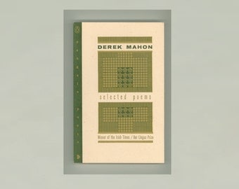 Selected Poems by Derek Mahon, Winner of the Irish Times Aer Lingus Prize 1993 Paperback Book Issued by Penguin Press, Cover by Bruce Licher