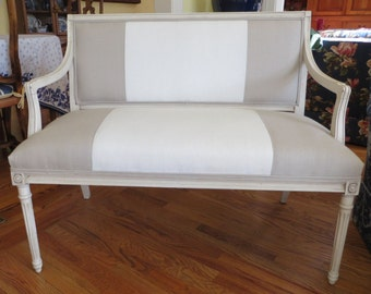 Two Toned Bench/Settee - Totally Refurbished