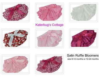 Satin Ruffle Bloomers