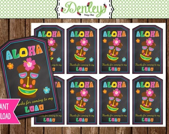INSTANT DOWNLOAD: Luau favor tags (TG003)
