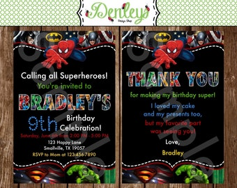 Superhero Birthday Invitation (SH01)
