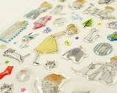 Fairy Tale 01 - Translucent 3D Deco Sticker - 1 Sheet - 2 designs for choice
