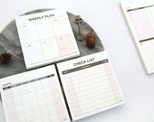 Journaling Spot - Desk Memo Pad - Monthly, Weekly and Check List for choice - 60 sheets