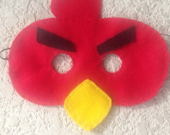ANGRY BIRD Felt mask/ pretend/play/party supplies