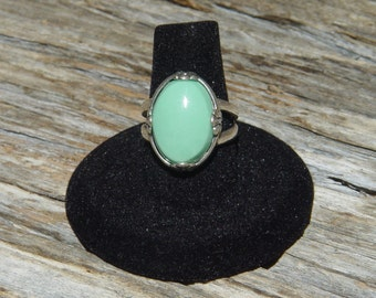 Variscite in Sterling Silver Ring      Size 7.75