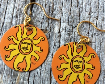 Oberon Ale - Bell's Brewery Earrings Sunshine Sun Microbrewery Beer Microbrew Summer Yellow Orange