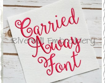 Carried Away Machine Embroidery Font Monogram Alphabet - 3 Sizes