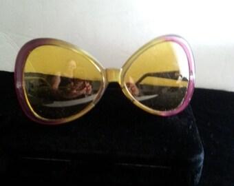 Now On Sale Vintage Eyewear Huge 1980's Eye Glasses Rockabilly Accessories Vintage Dr Peepers Pink Orange Sunglasses Oversized Butterfly