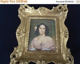 Now On Sale Vintage Victorian Picture  Home Decor Wall Hanging Collectible 1960's Made in Italy
