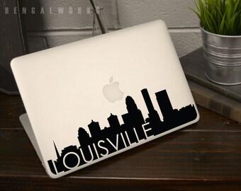 Louisville Skyline Macbook Decal 3 | Macbook Sticker | Laptop Decal | Laptop Sticker | Car Sticker